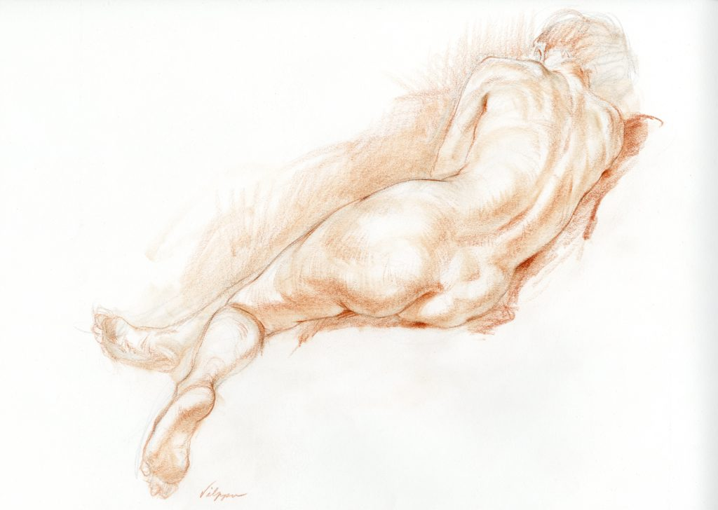 Figure Drawing by New Masters Academy instructor Glenn Vilppu
